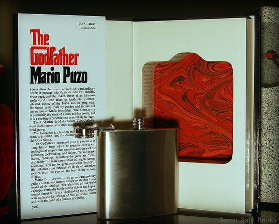 Hollow Book Safe & Flask THE GODFATHER by SecretSafeBooks on Etsy, $59.00