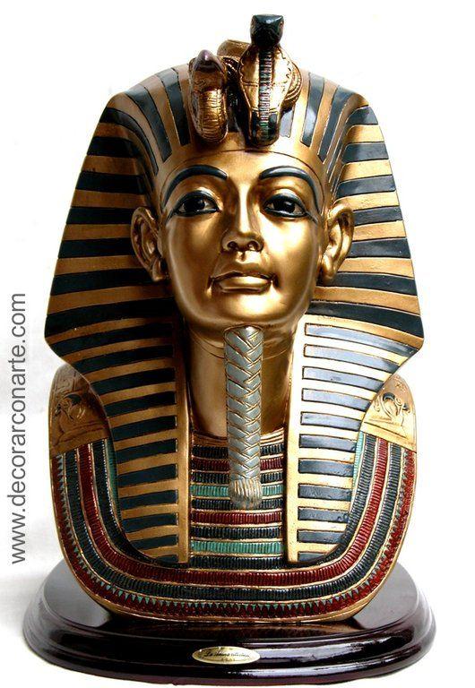 Mascara Egipcia Tutankamon 20 X 22 X 28 Cm Decorar Con Arte Arte Egipcio Arte Del Antiguo Egipto Antiguo Arte Egipcio