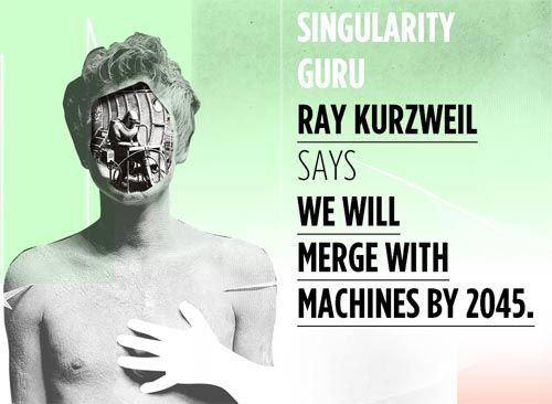 Singularity Guru Ray Kurzweil says we will merge with machines by 2045. Interview with Ray Kurzweil in Katalyst VS Singularity: http://katalystnetwork.com/vs/singularity/: