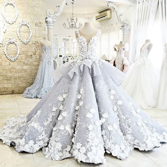 Retro Lace Empire Wedding Gowns Bridal Dresses Appliques Flowers Custom Made | eBay