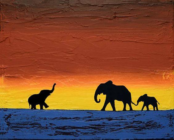 elephant good luck animal paintings african #art #painting @EtsyMktgTool http://etsy.me/2xA9msr