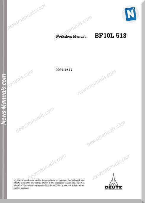 Deutz Bf10l 513 Workshop Manual Workshop Manual Electrical Diagram