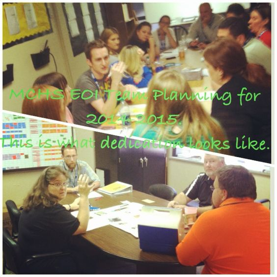 EOI Department Teams Creating Team and Testing Norms for the 2014-2015 School Year