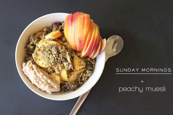 Peachy Muesli (for muesli recipe)