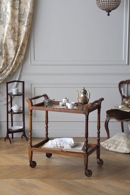 木製キッチンワゴン Kb02195 アンティーク家具のantiques Midi
