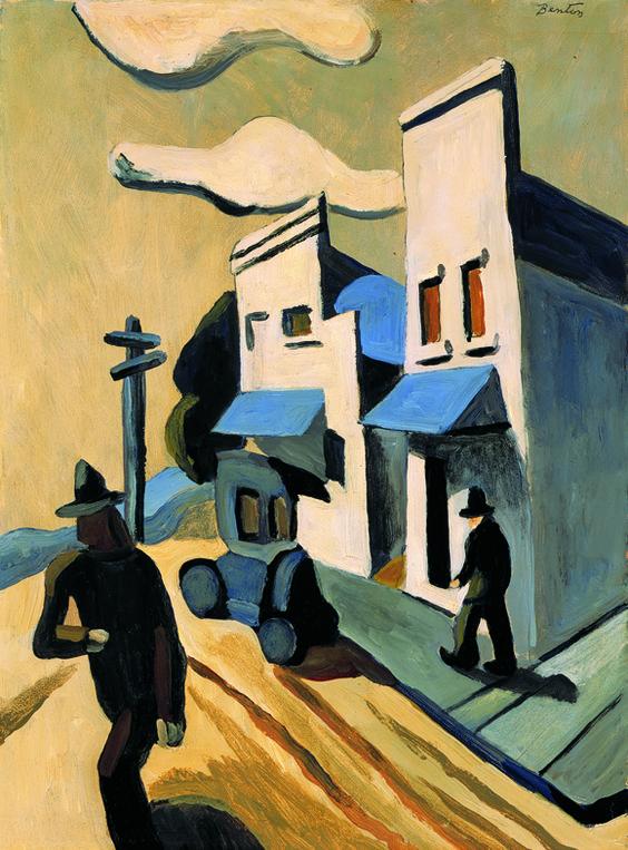 'Boomtown' (ca.1927) by Thomas Hart Benton