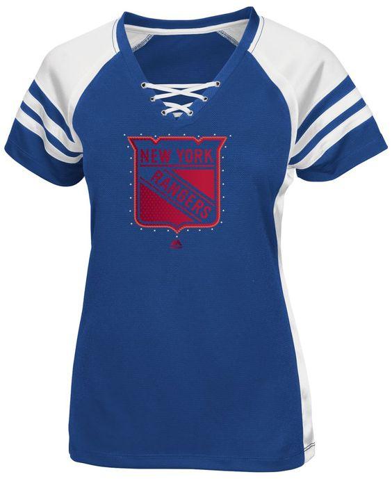 Majestic Women's New York Rangers Magic Moment Shimmer T-Shirt