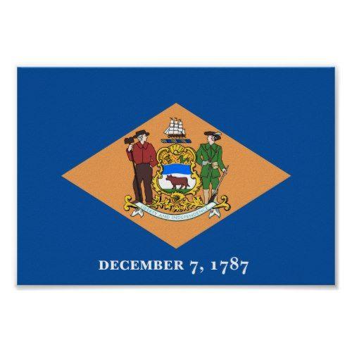 Delaware Flag Poster Zazzle Com Delaware Flag Personalized Paper Napkins Cheap Gift Diy