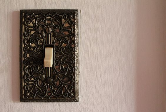 So, when we moved into the new house with Dad, everything was antique and old looking. My light switch sparked my interest.