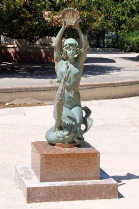 la fontaine du Parc Chanot. Marseille