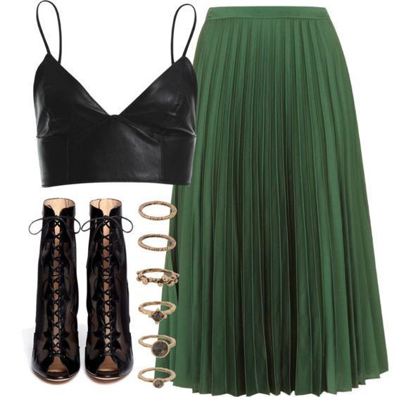 Untitled #4534 by laurenmboot on Polyvore featuring polyvore, fashion, style, Bardot, Topshop, Gianvito Rossi and Forever 21