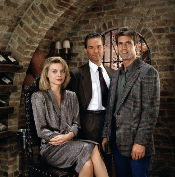 Kurt Russel with Mel Gibson and Michelle Pfeiffer in Tequila Sunrise