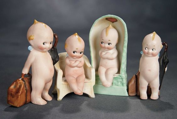 """""""The Voyage Continues"""" - Saturday, January 7, 2017: 234 Four German All-Bisque Action Kewpies"""