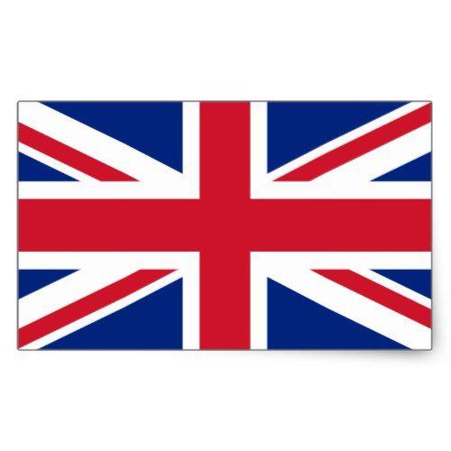 United Kingdom Flag Stickers Rectangular Sticker Zazzle Com Britain Flag United Kingdom Flag Union Jack