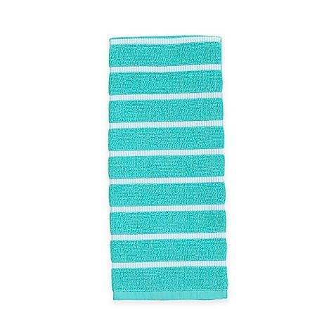 Kate Spade Grosgrain Stripe Kitchen Towel in Blue