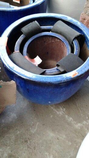 Vasos vietnamitas - Conjunto de 3 vasos por R$500,00.