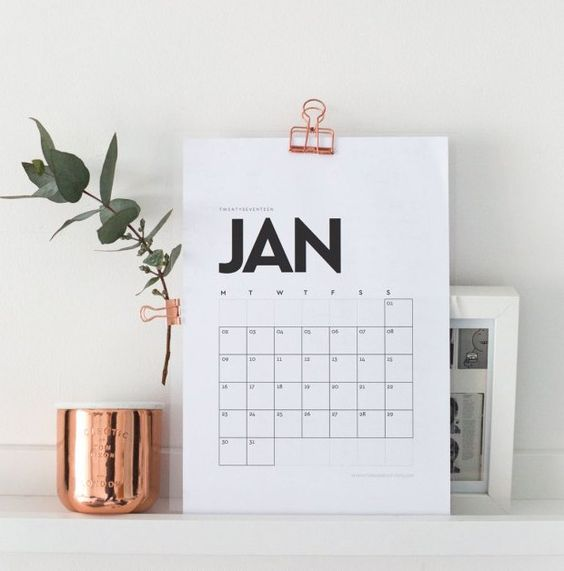 Nada de procrastinar! Imprima gratuitamente um destes calendários 2017 que selecionamos para no próximo ano você se organizar!: