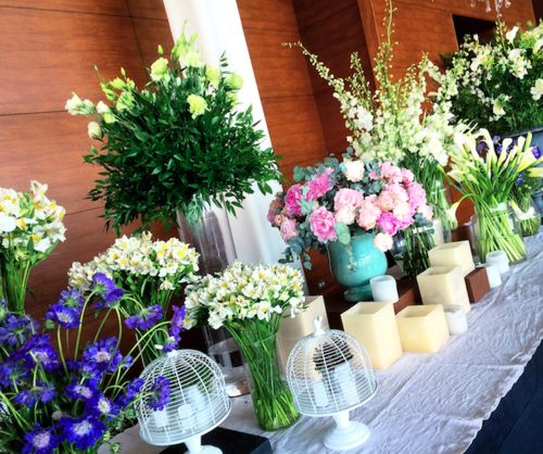 camila gysling wedding buffet flowers