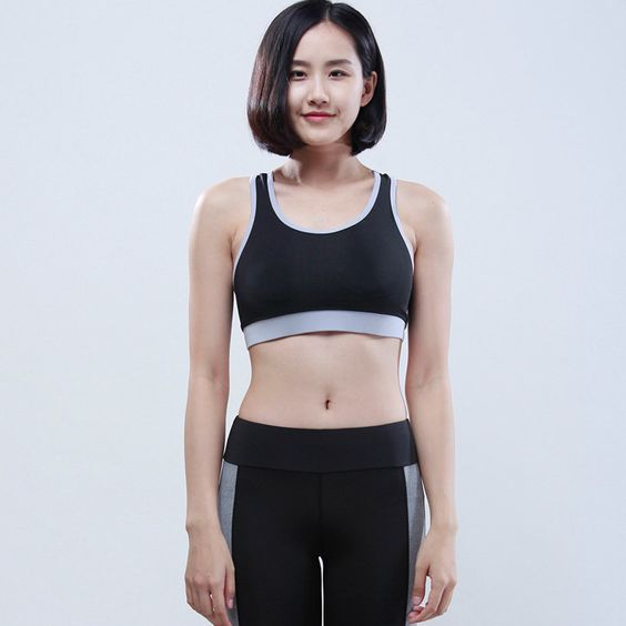 2 pieces/lot) High Quality Sports Bra added Push Up Shockproof Top ...