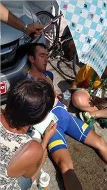 O Antagonista - Ciclista do Kosovo é atropelado