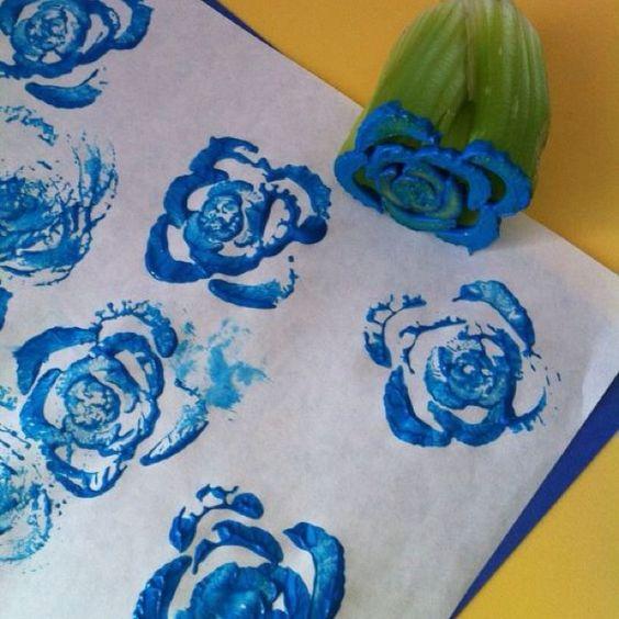 Celery stalk stamp!
