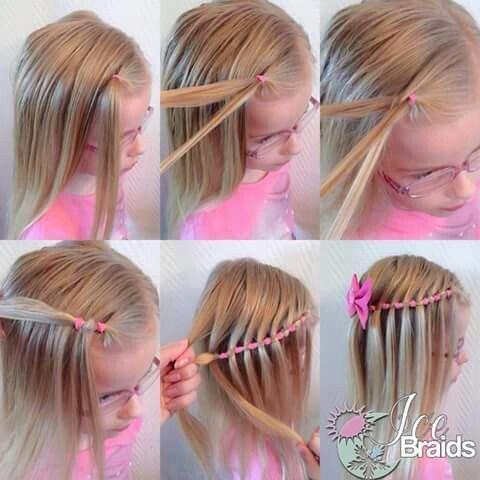 Wasserfall Zopf Haare Madchen Geflochtene Frisuren Kinder Haar