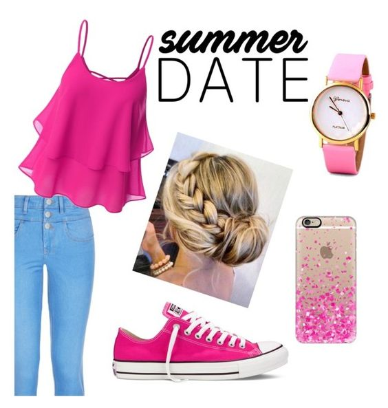 """""""State fair """" by sonata12 ❤ liked on Polyvore featuring New Look, Doublju, Casetify, Converse, statefair and summerdate"""