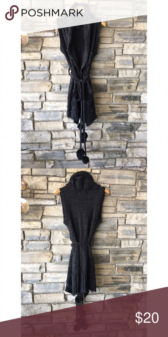 Cozy Grey Cardigan Dark grey cozy cardigan. Perfect for transitioning from fall to winter.   - 75% Acrylic - 25% Wool - Hand wash or dry clean Olive Olivia Sweaters Cardigans