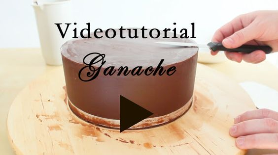 Video tutorial como conseguir un pastel con bordes perfectos - Fase Ganache