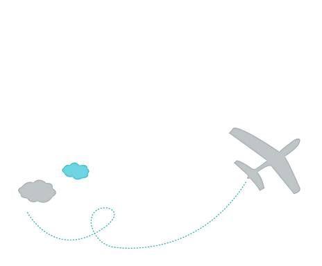 Cosas de niños: Vinilo adhesivo Avión, gris
