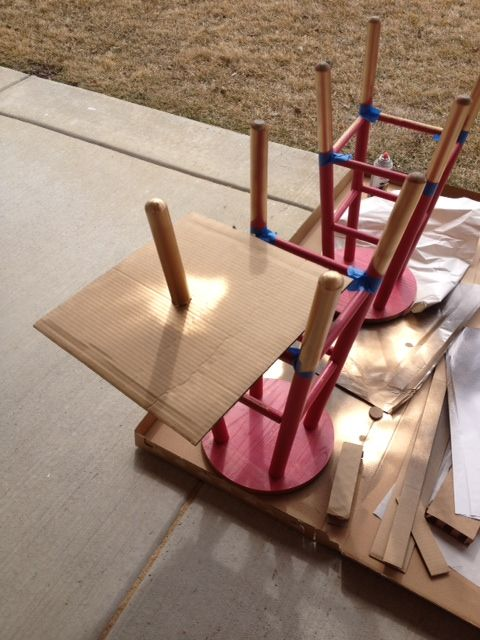 Gold Dipped Bar Stools Sprays Legs And Bar