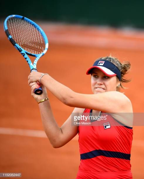 Sofia Kenin Of The United States Plays A Backhand During Her Ladies Singles First Round Match Against Giulia Gattomonticone During Da Sofia United States Photo