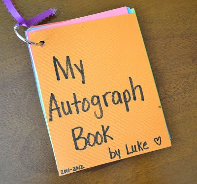 From The Hive: end of the year- preschool style autograph book: