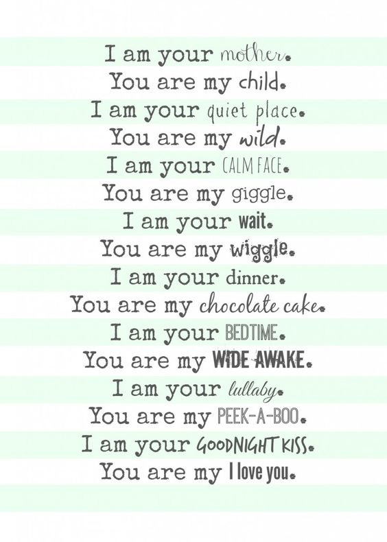 mom poem--free printables!