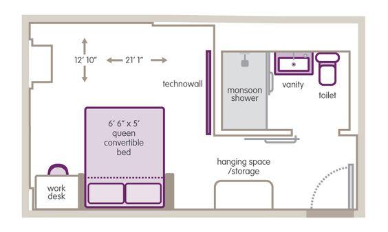 Small Hotel Room Floor Plan Bedrooms Pinterest York