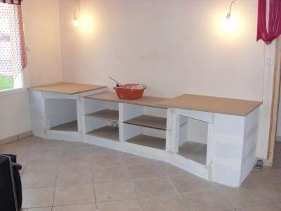 Meuble b ton cellulaire pinterest - Fabriquer meuble salle de bain beton cellulaire ...
