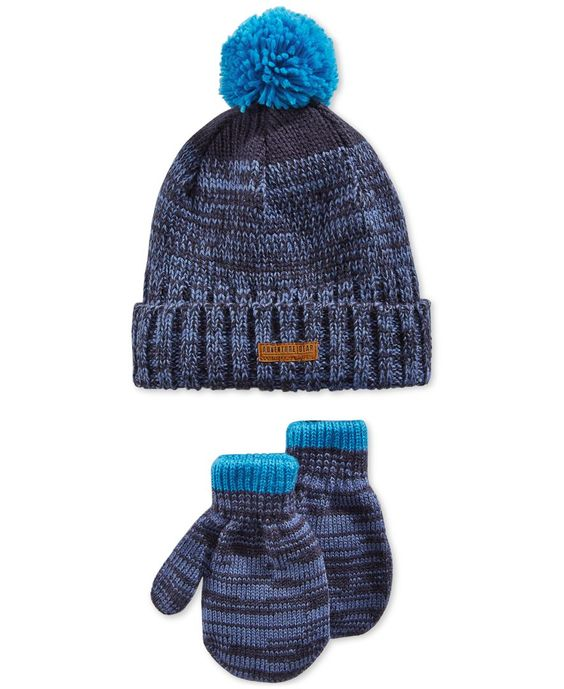 Carter's Toddler Boys' Hat & Mittens Set