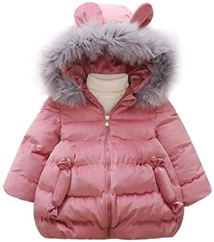 Happy childhood Baby Boys Girls 2PCS Thicken Down Snowsuits Warm Hooded Faux Fur Jacket with Warm Bib Pants Winter Overalls