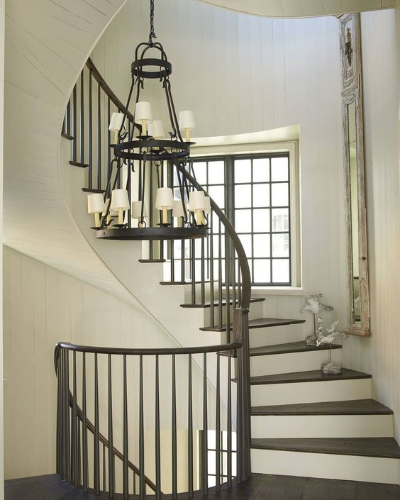 A simple stair with graceful curves #SusanFerrier #McAlpineHouse #InteriorDesign