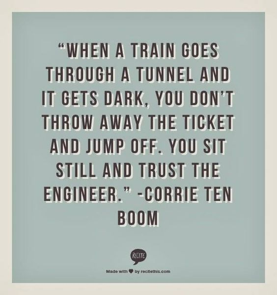 This is my most pinned pin and one of my all time favorite quotes by one of my all time , that favorite and inspirational people. #CorrieTenBoom, stick to GOD to the end