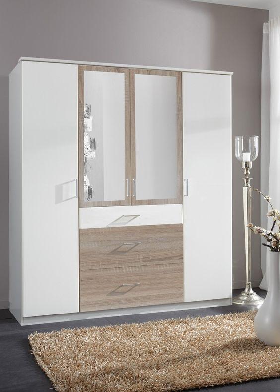 Kleiderschrank Click 180,0 Weiß Sägerau 10411 Buy now at   - schlafzimmerschrank weiß hochglanz