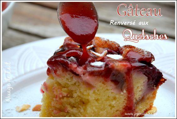 Gâteau Renversé aux Quetsches et son coulis de quetsches