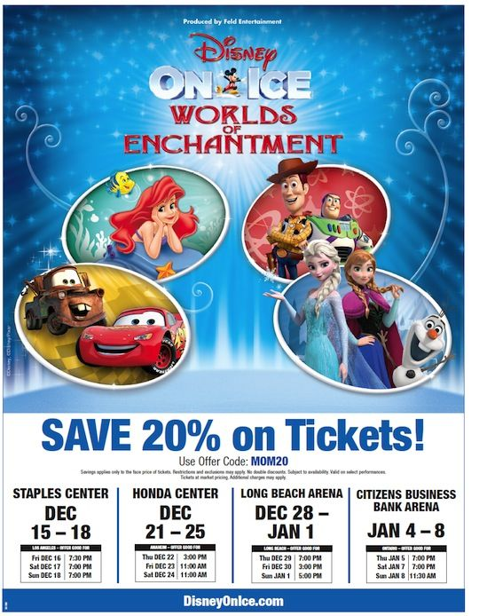 Disney On Ice Worlds Of Enchantment Discount Printable Disney On Ice Disney Disney Story