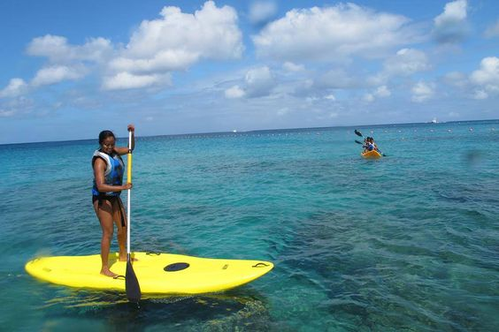 Stand Up Paddleboarding is one of our favorite Summer activities to do, and comes included in the all-inclusive package at most of our resorts! @theclubbarbados #Barbados #SUP