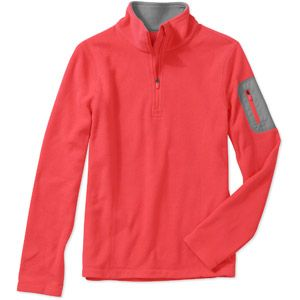 Danskin Now Women's Plus-Size 1/4 Zip Microfleece Pullover