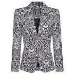 Paisley print blazer