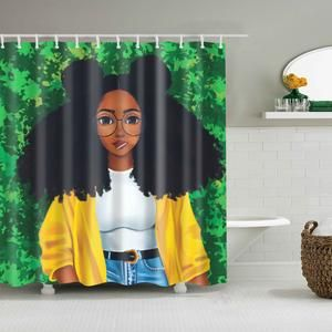African Queen With Lions Shower Curtain Bathroom Decor Girls Shower Curtain Afro Shower Curtain Shower Curtain