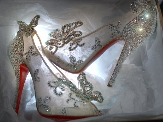 Christian Louboutin unveils his take on Cinderellas glass slipper