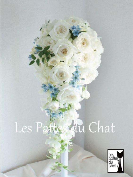 ウェディングフラワーセレクトショップ ~レ・パデュシャ~(WeddingFlowerSelectshop ~Les Pattes du Chat~)... 香りのよいキャスケードブーケ