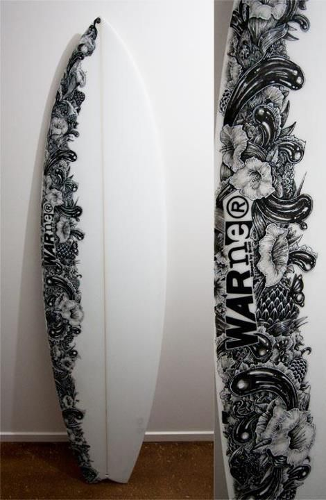Surf artworks and awesome on pinterest for Awesome surfboard designs